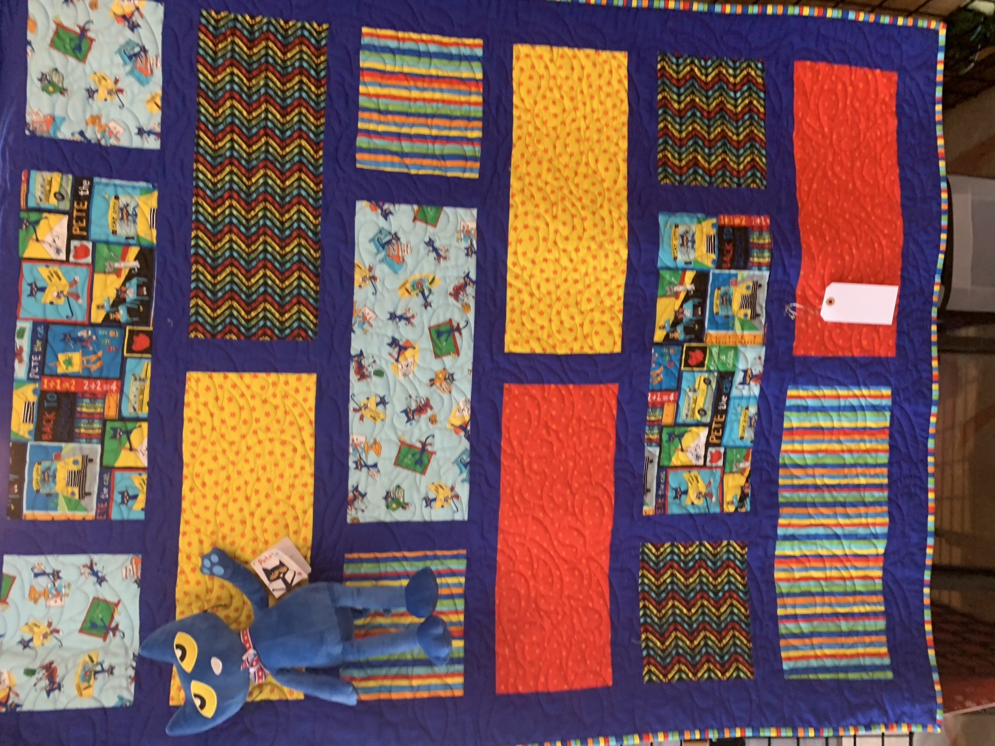 Pete the Cat Quilt and Pete