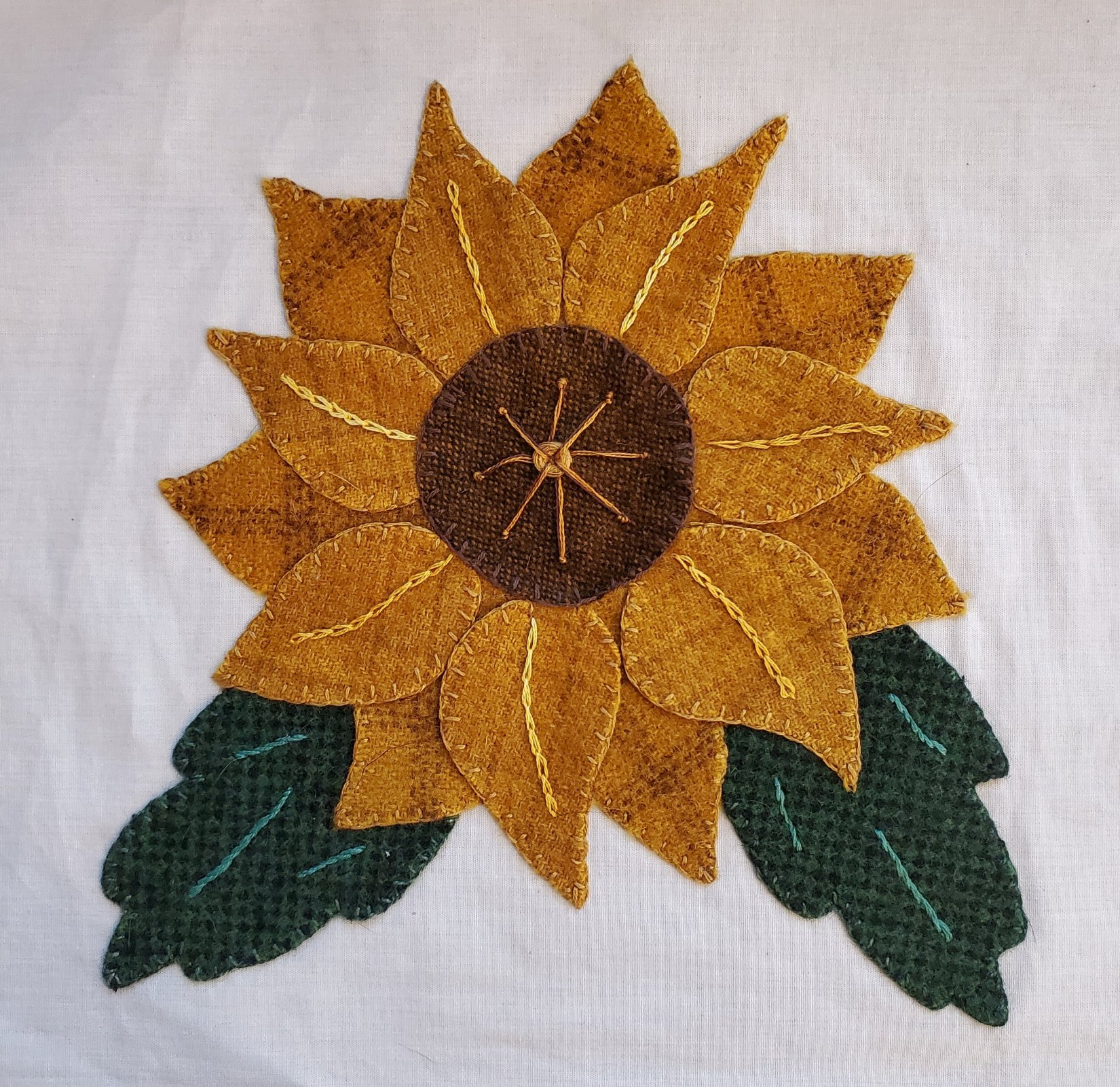 Fall Under the Spell Block of the Month Sunflower Applique Kit
