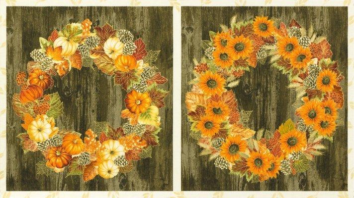 Autumn Wreath Panel -19314-191