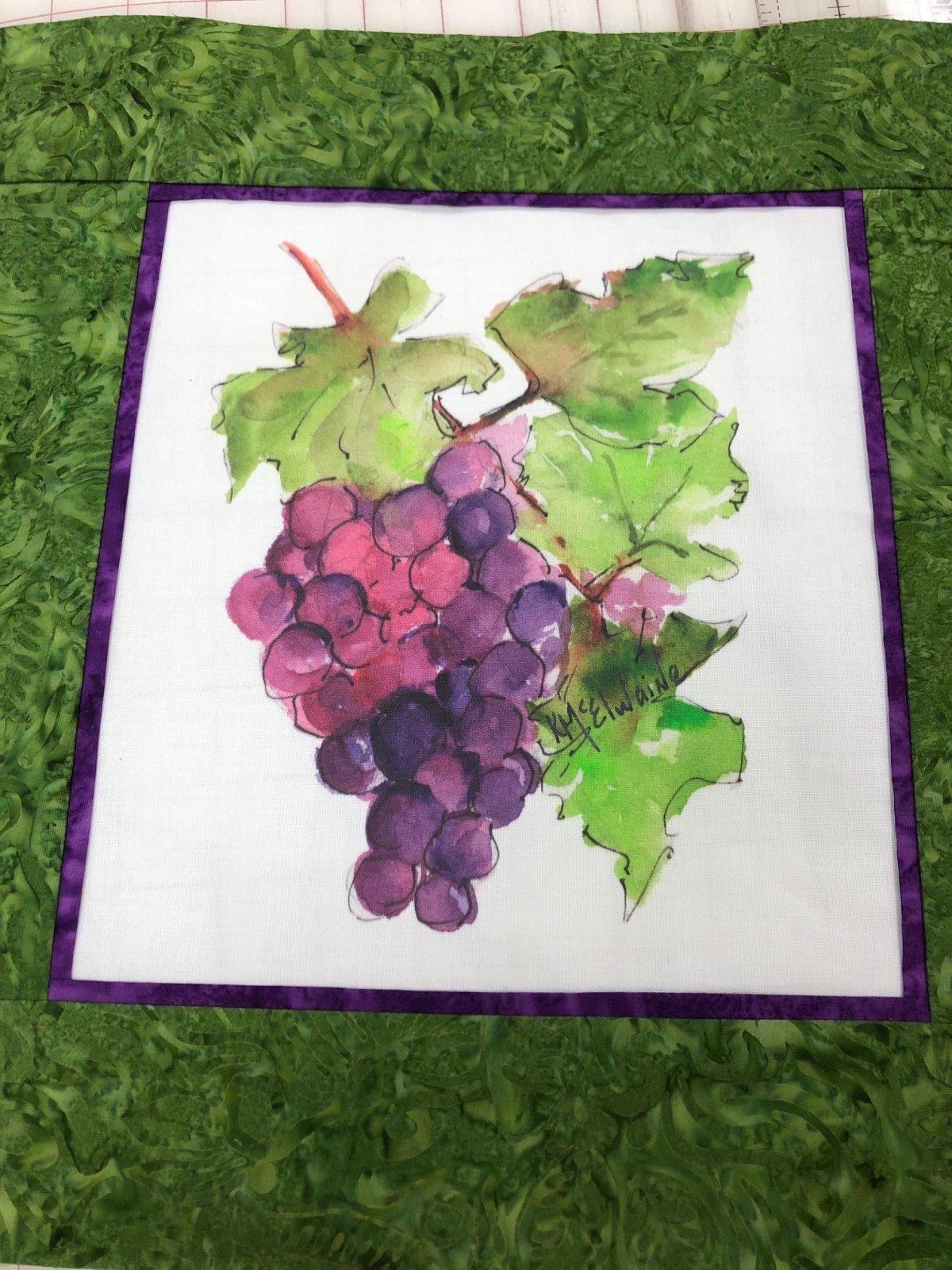Wine Grapes Pillow Kit