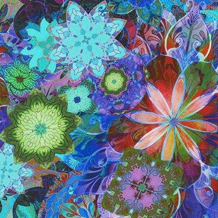 Kaufman Venice Floral - AQSD-19718-201 Jewel