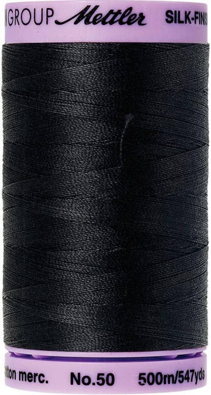 Mettler Silk-Finish 50wt Solid Cotton Thread 547yd/500M