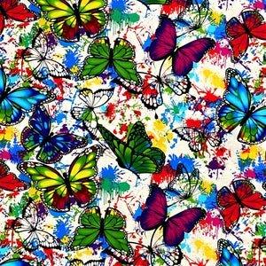Butterflies and Color Splatter - 10345