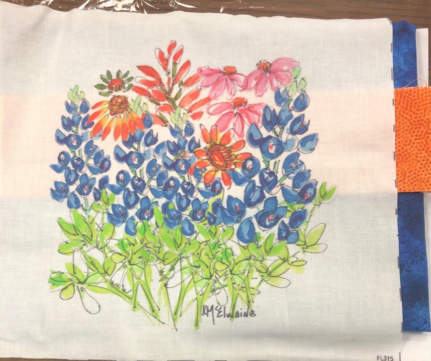 Blue Bonnet Pillow Kit