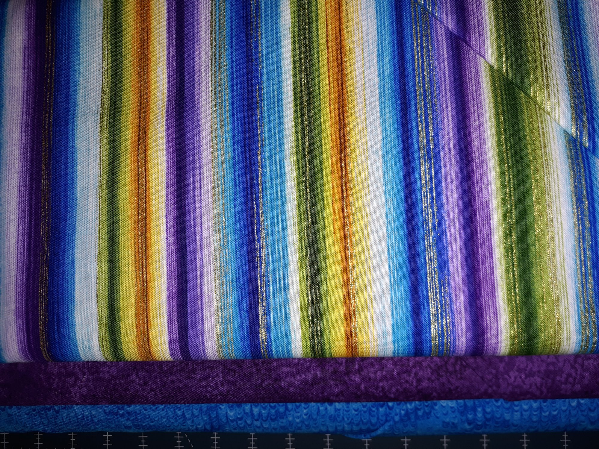 3 One yard Cuts Bright Stripes