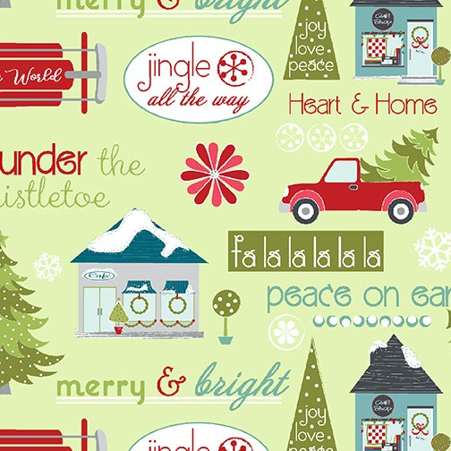 Heart and Home - Sentiments - Lt Green 10322 40