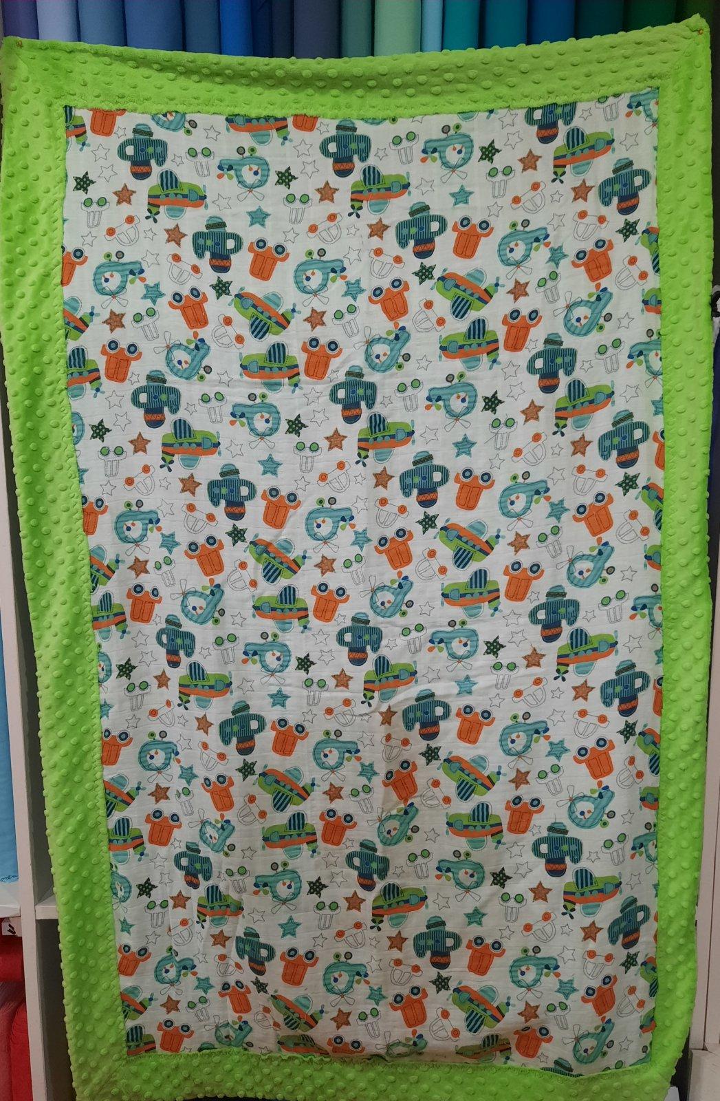 Self-Binding Baby Blanket & Lovies Kit