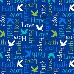 Psalms Inspirational Words Blue 28254-N