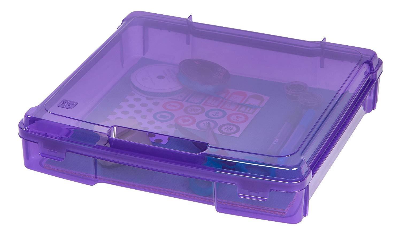 Iris 12 in. x 12 in. Portable Project Case Purple