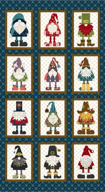 Gnome Holidays Panel Q9617P 77