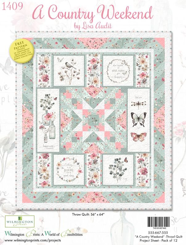Free Pattern - A Country Weekend - by Lisa Audit