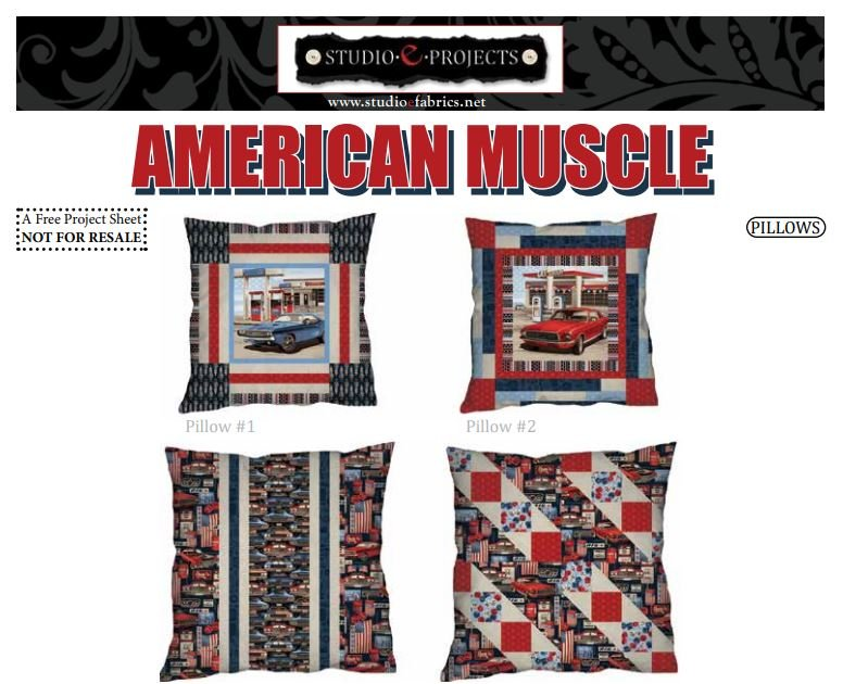 Free Pattern - American Muscle Pillow Pattern