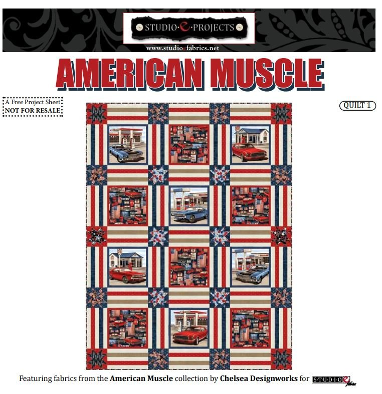 Free Pattern - American Muscle Quilt Pattern