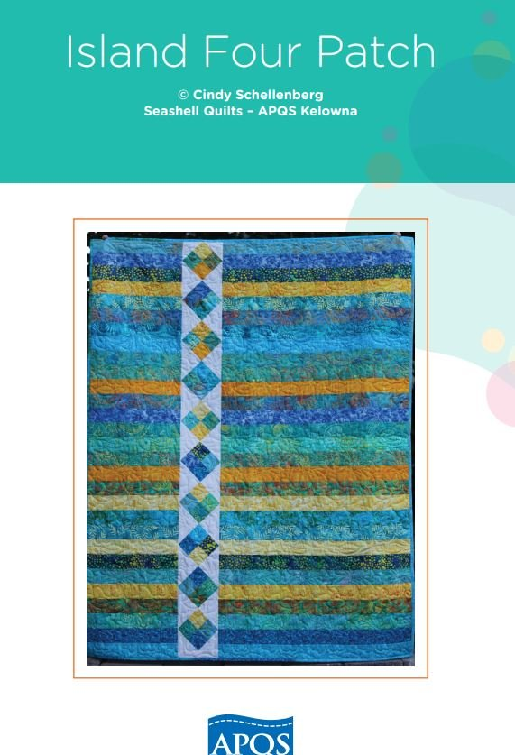 Free Pattern - Island Four Patch - by APQS