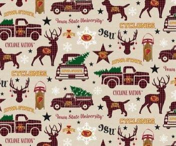 NCAA  - Iowa State Cyclones - Christmas Cotton 1213