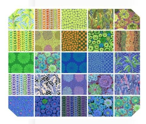 Kaffe Fassett Collective Design Roll Cool - 10 square packs 42ct