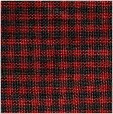 Minincheck Homespun Tea Towel Red/Black