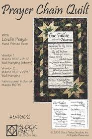 Prayer Chain Quilt Pat+ fabric Lord's Prayer