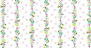Stella Daw Floral Stripe 1094 White