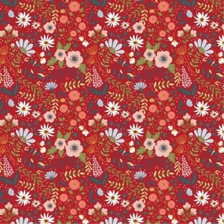 Farm Girls Unite Red Farm Girl Floral 20714