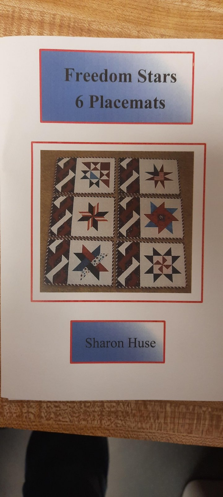 Freedom Stars Placemats Pattern