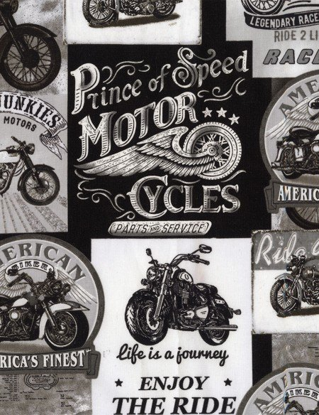 Packed Motorcycle Signs Grey