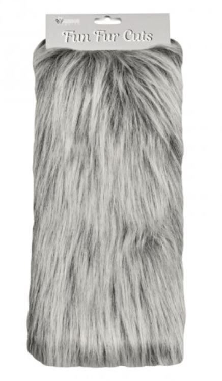 9 x 12 Fun Fur Cuts - Monkey Grey Frost