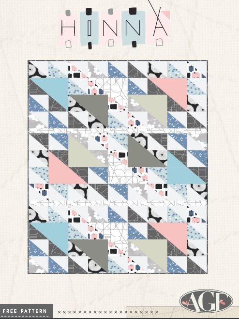 Free Pattern - Hinna Quilt Pattern - by AGF