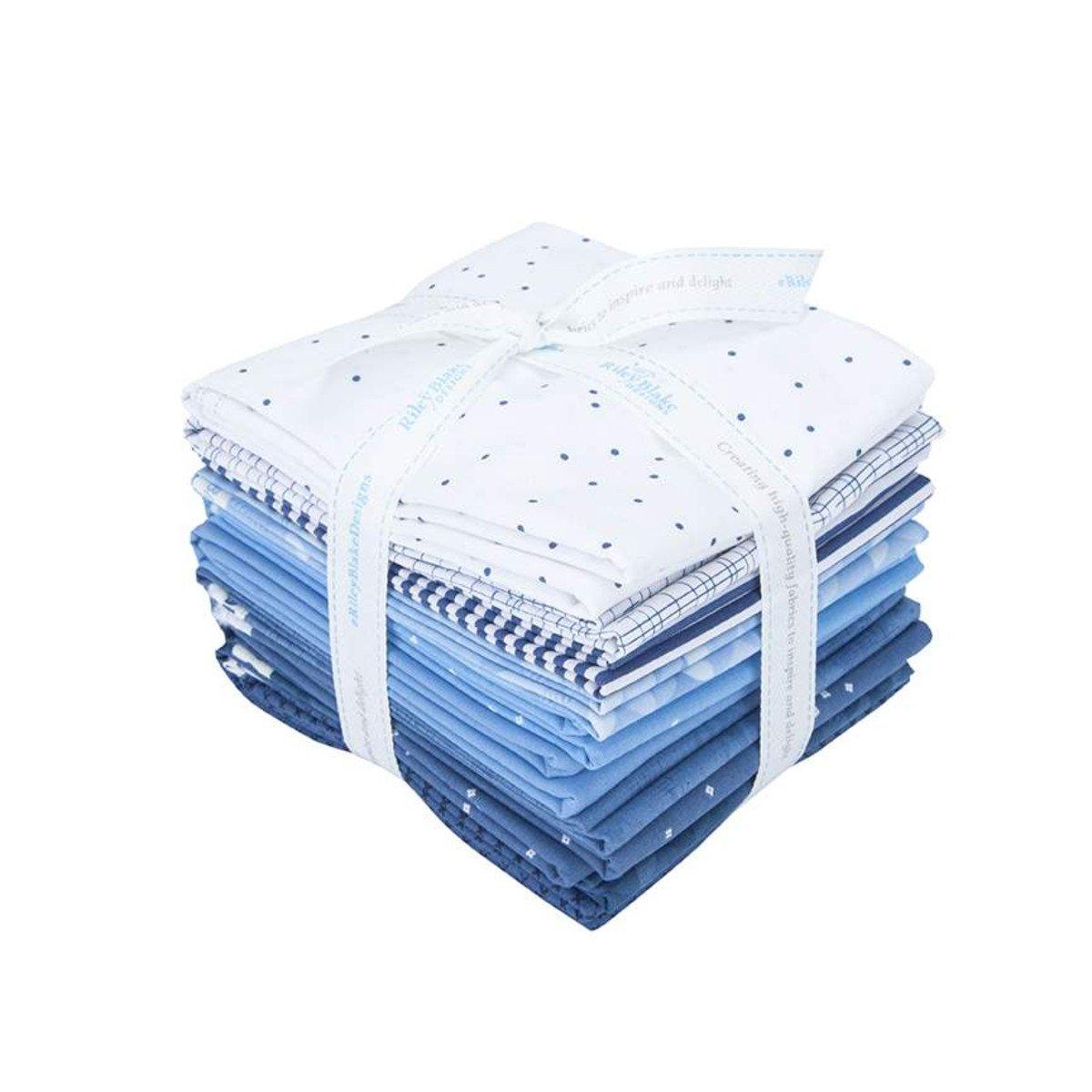 Half Yard Cut Blue and White Bundle 10 ct