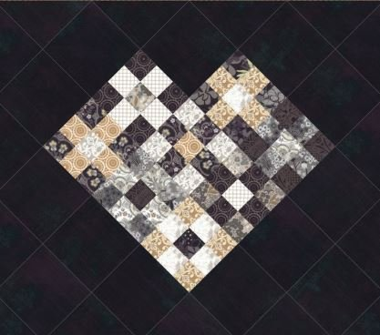 Nine Patch Heart Mini - Stiletto - Free Pattern