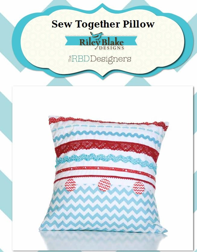 Free Pattern - Sew Together Pillow - by Riley Blake