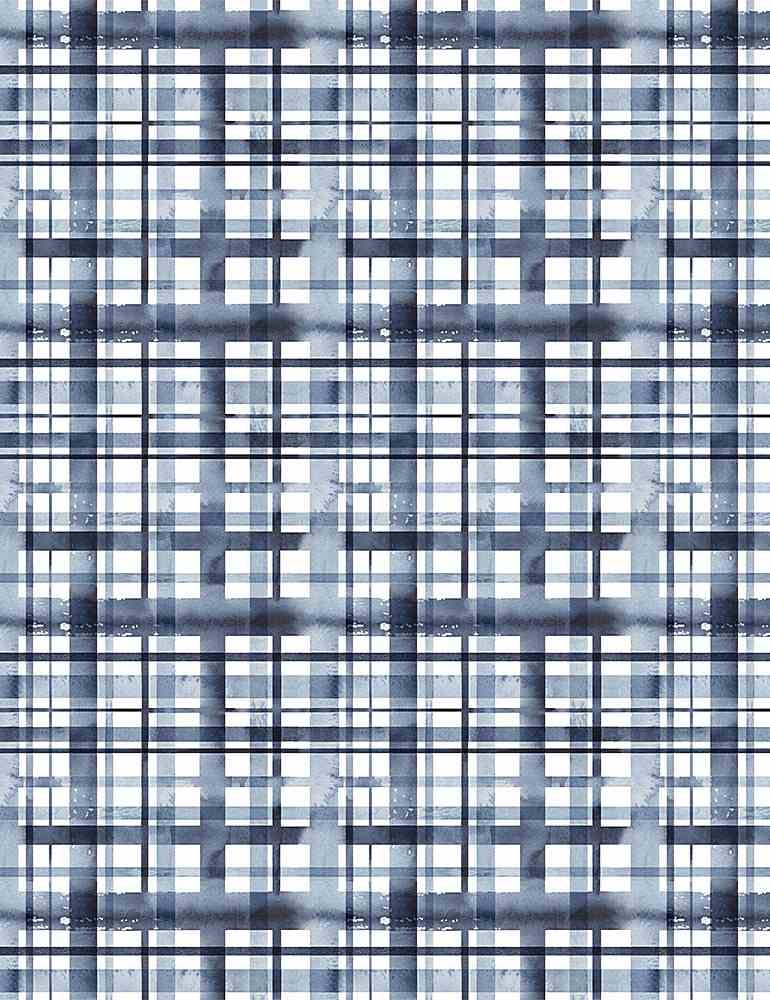 Meant To Bee - Water Plaid - 1885  White