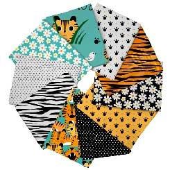 Tiger Tails FatQtr Bundle - 10 per bundle