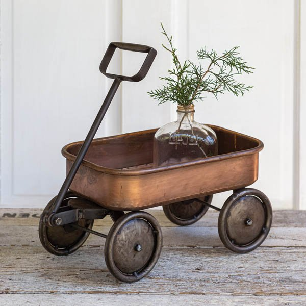 Wagon with Copper Finish