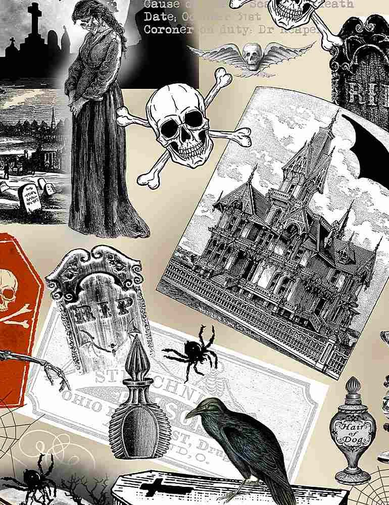 Wicked - Spooky Collage - 8636 Multi