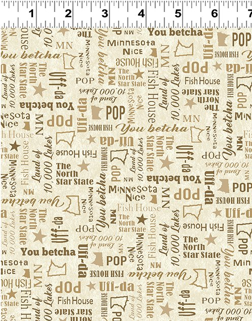 Quilt Minnesota Shop Hop 2020 - Words Light Butter
