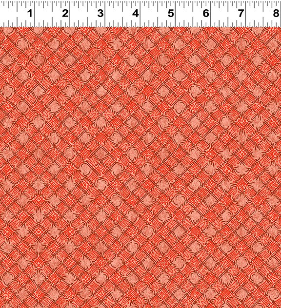 Quilt Minnesota Shop Hop 2020 - Diagonal Plaid Dark Coral