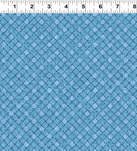 Quilt Minnesota Shop Hop 2020 - Diagonal Plaid Light Sky