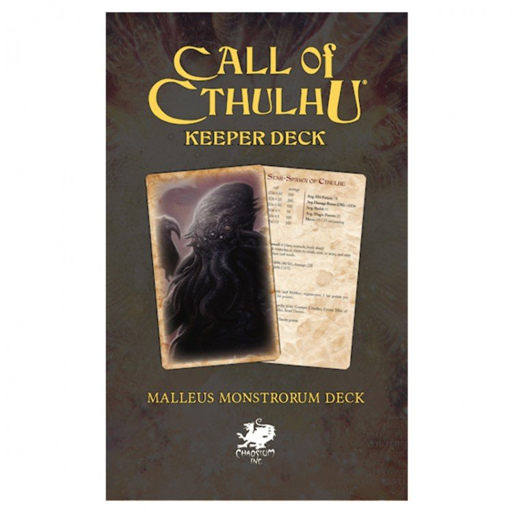 Call of Cthulhu, 7th Ed.: The Malleus Monstrorum Keeper Deck