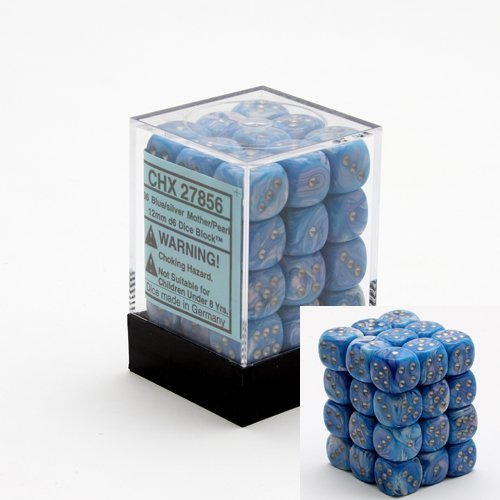 Mother of Pearl Dice Set