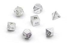 Silver Plated Resin Dice Set