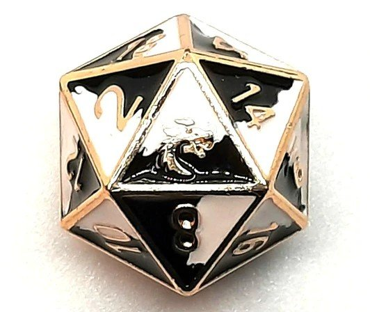 Dragon Forged Metal D20