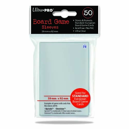 Ultra Pro Standard European Board Game Sleeves