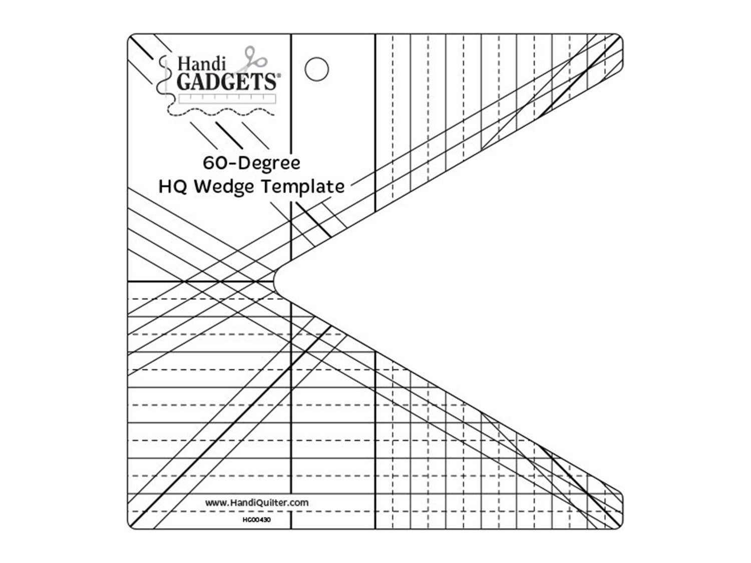 60-Degree HQ Wedge Template