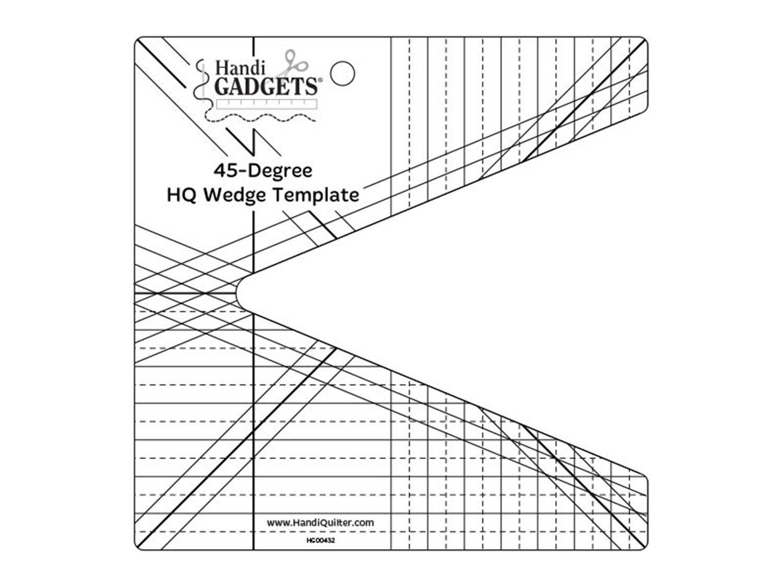 45-degree HQ wedge template