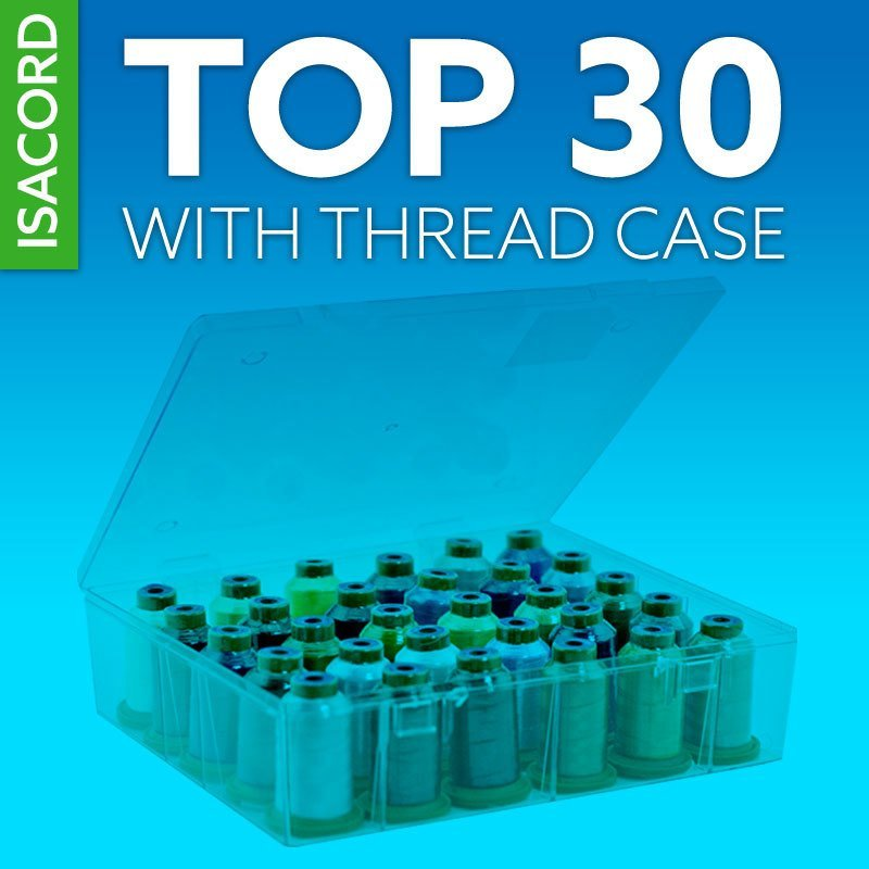 Isacord Top 30 Thread Kit with Storage Case