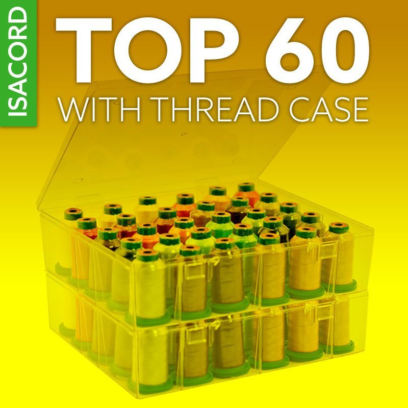 Isacord Top 60 Thread Kit with Storage Cases
