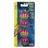 plastic balls w/bell