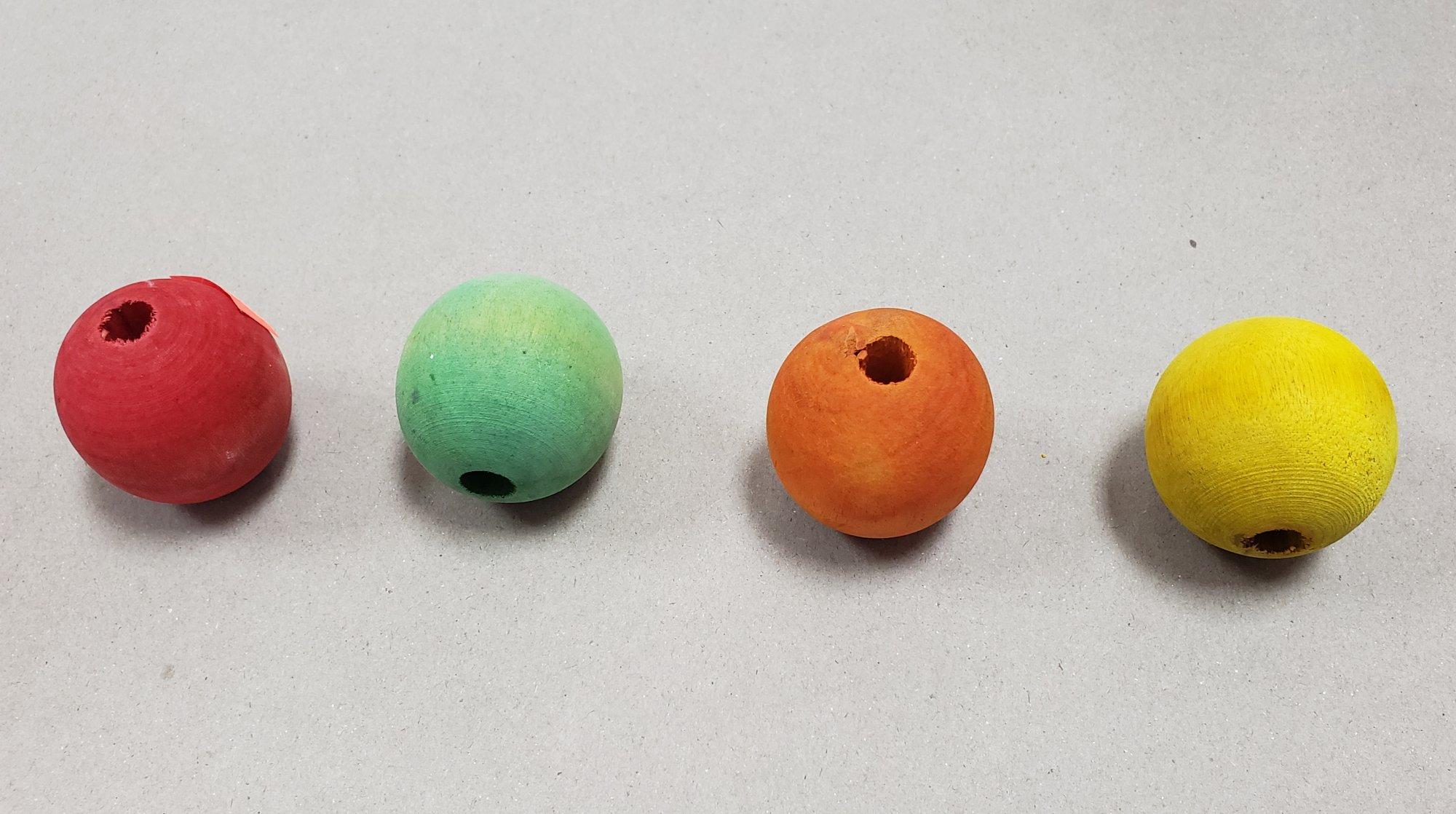 Wooden Beads each