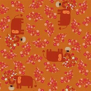 Kawaii Nakama - I Heart Elephants - Acorn Unbleached